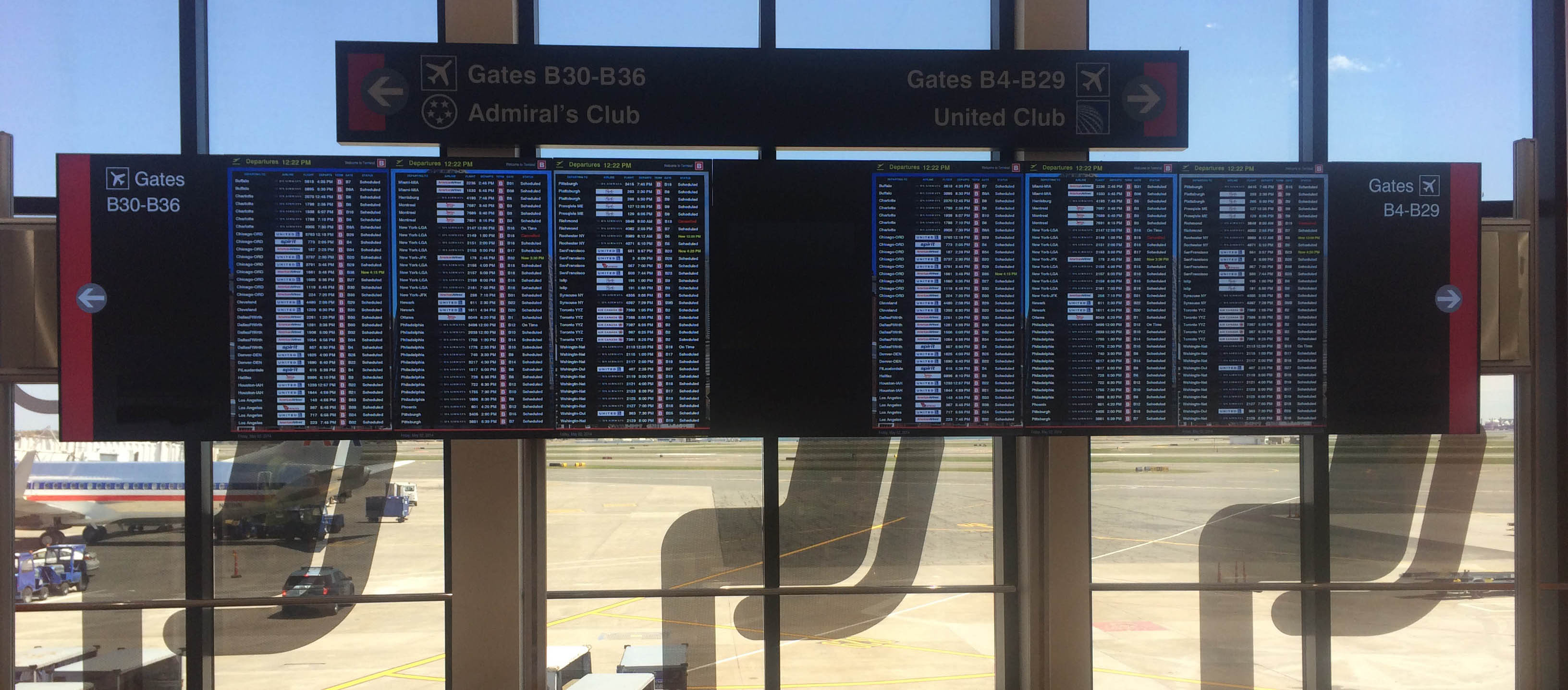Boston Logan Airport: 2x1 Video Wall with Touch Overlay