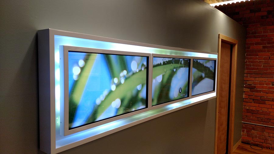 SHS: 3x1 Video Wall with Touch Overlay