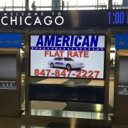 Chicago O'Hare International Airport: Interactive Kiosks and Large Format Protective Overlay