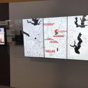 DSE 2018 Chief Booth: 3W x 1H Video Wall with Protective Glass Retention Bezel System