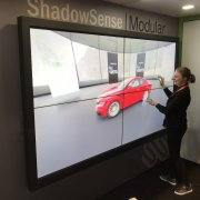 DSE Baanto Booth: 2W x 2H ShadowSense Touch Video Wall With Planar Displays