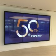 PepsiCo: 3W x 3H Infrared Touch Video Wall With Protective Glass Retention Bezel System